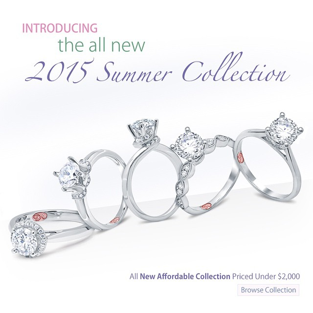 The Perfect Engagement Ring on your hand and on his pocket! Our 2015 Collection of Affordable Designer Rings! • view collection •LINK IN BIO•