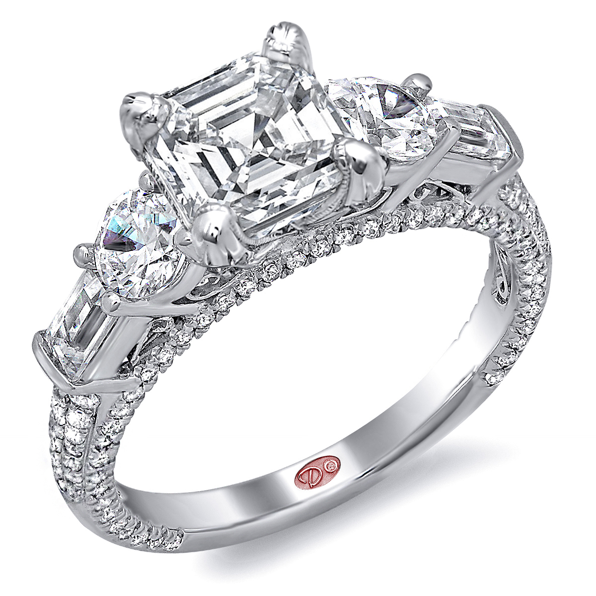 unique engagement rings dw4875. Black Bedroom Furniture Sets. Home Design Ideas