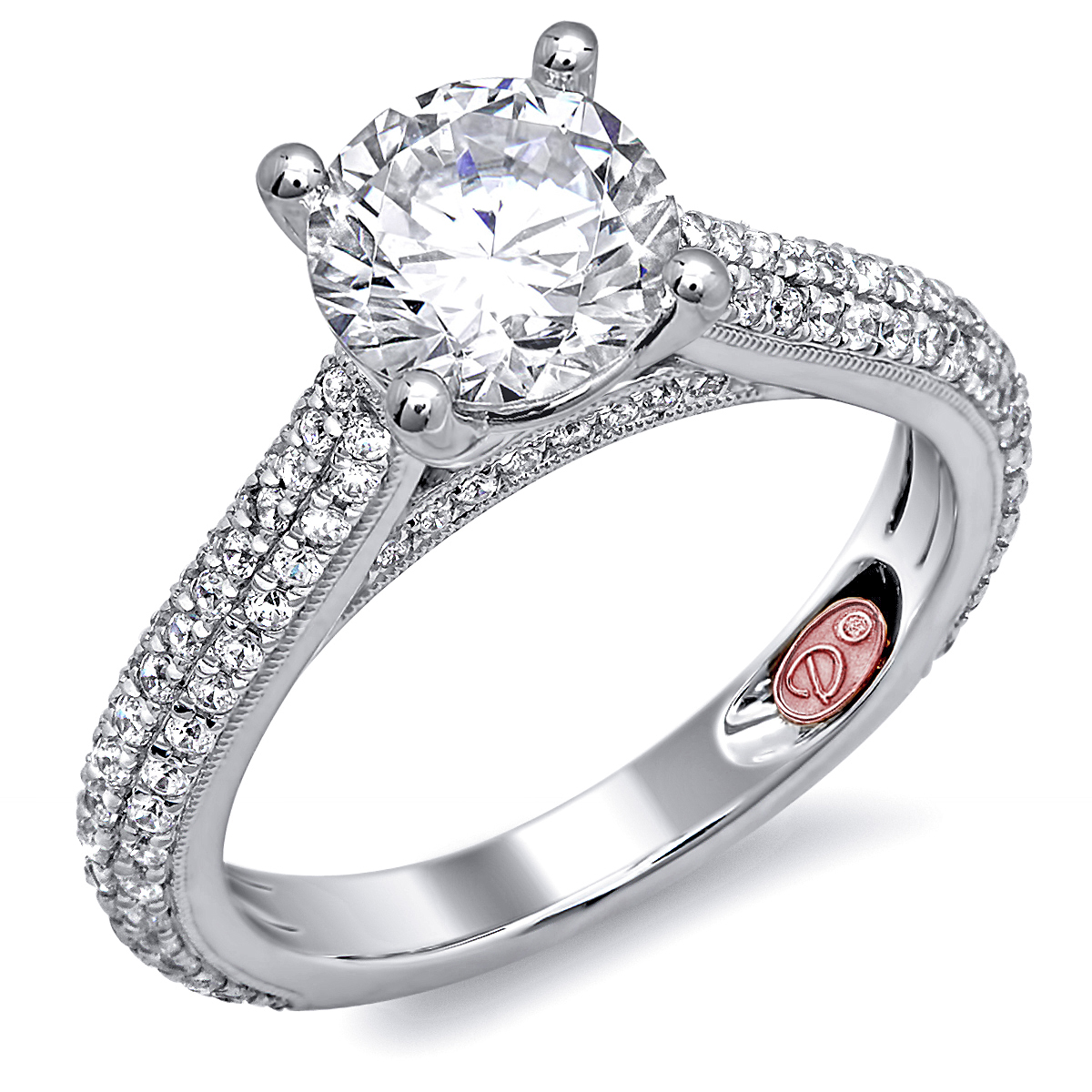Designer engagement ring demarco bridal jewelry official for Jewelry wedding rings