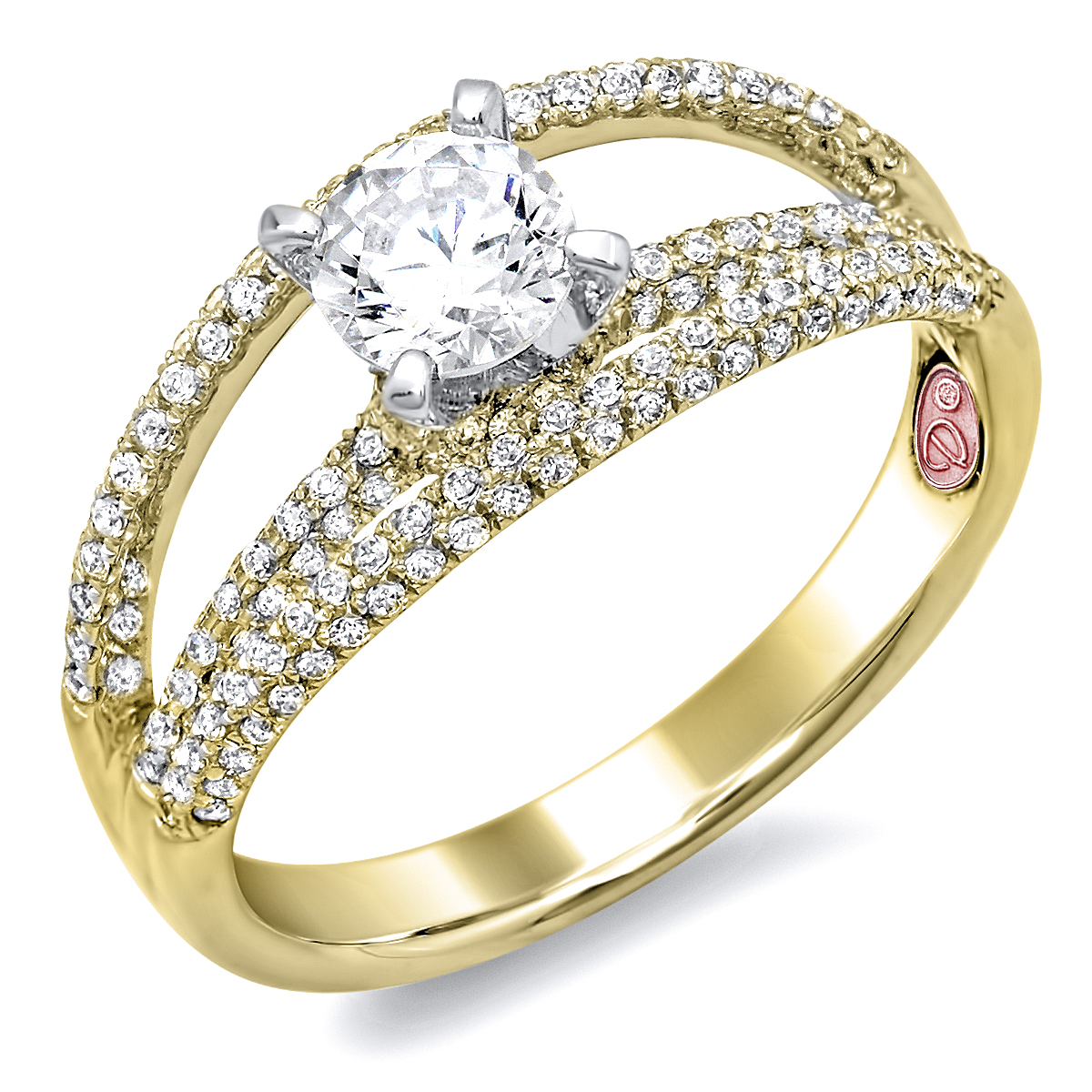 designer yellow gold engagement ring demarco bridal jewelry official