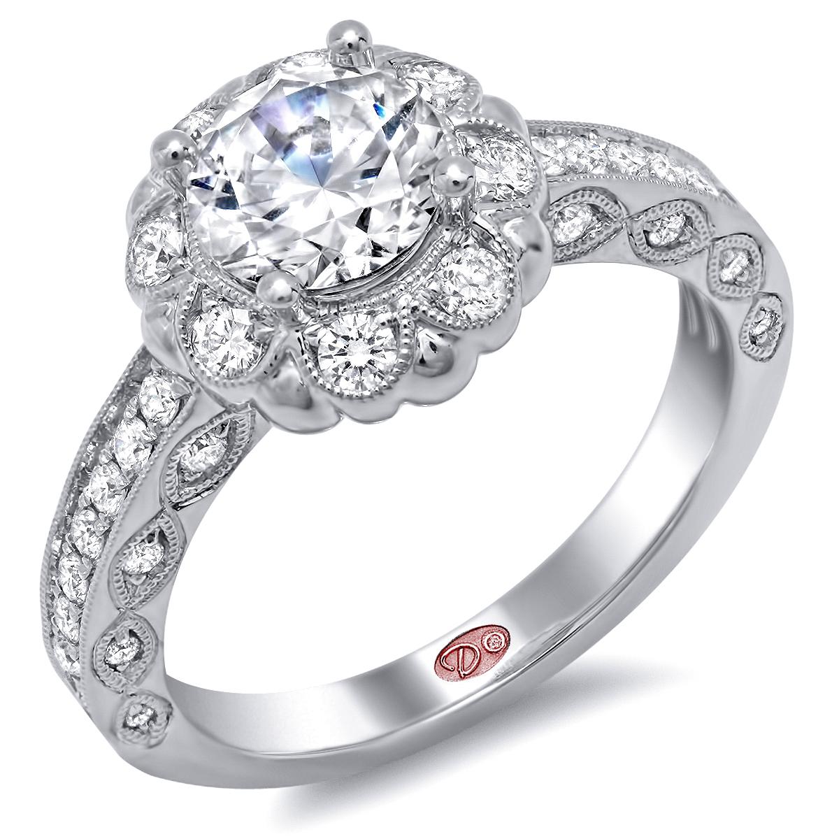 designer bridal rings dw6235