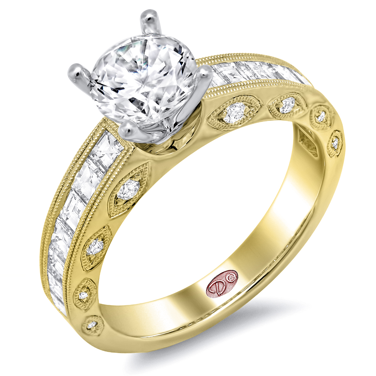 Yellow Gold Channel Set Engagement Rings