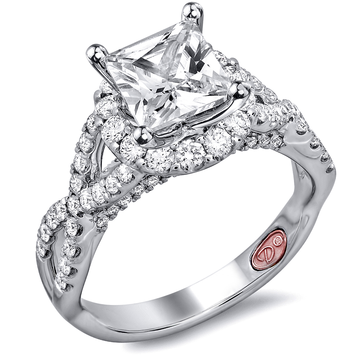 twisted princess cut engagement rings - Princess Wedding Ring