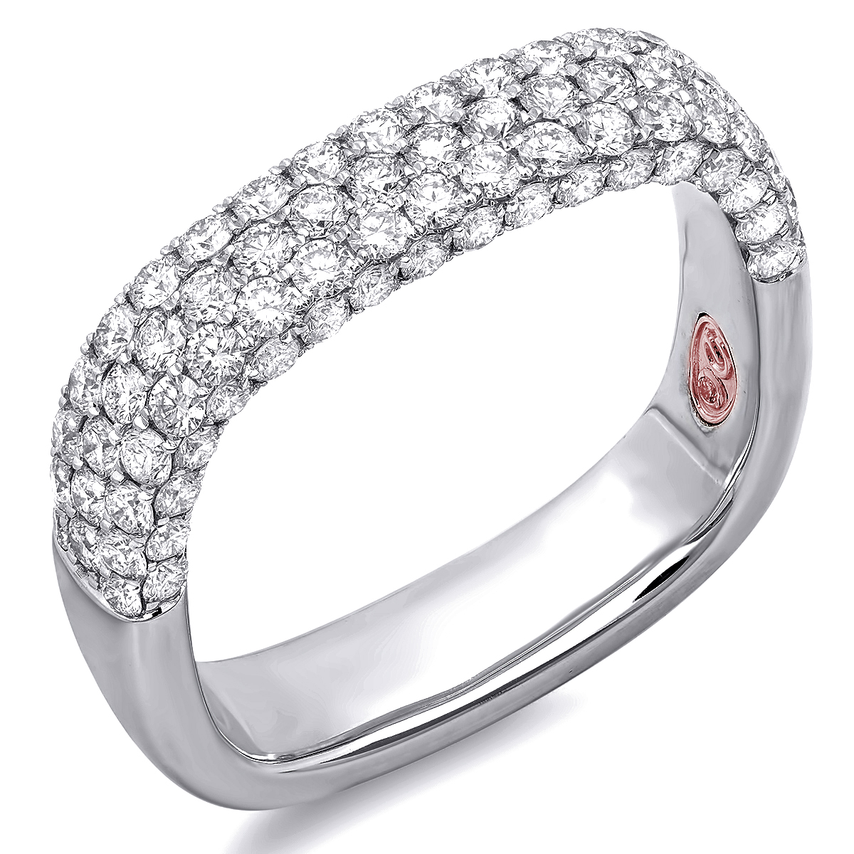 pave micro diamond ring sapphire bezel ringdsc nodeform products white half by engagement rings