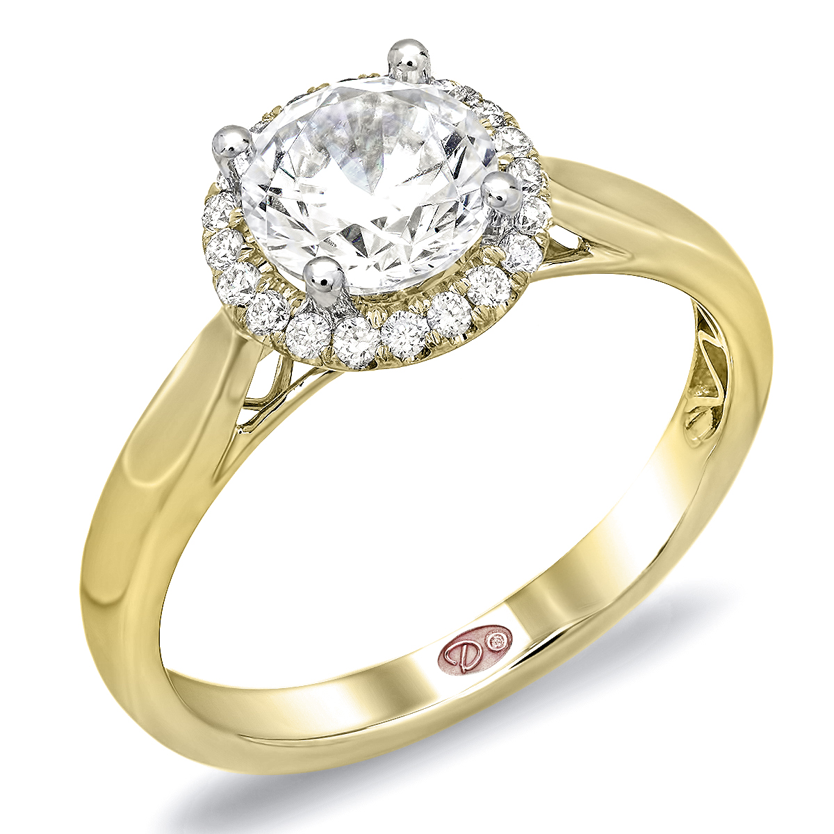 halo ring yellow gold halo ring