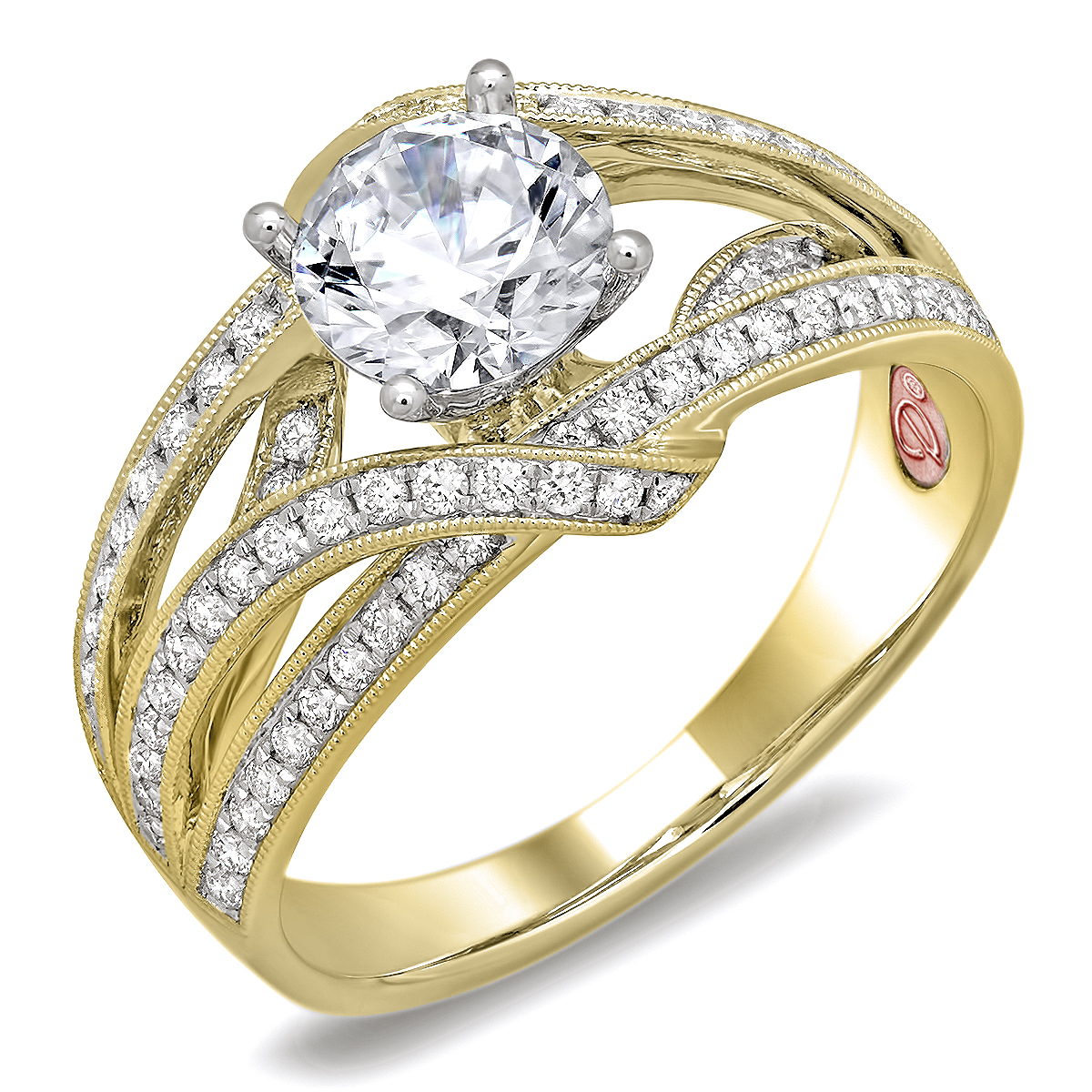 Designer bridal rings dw6078 for Wedding rings designers