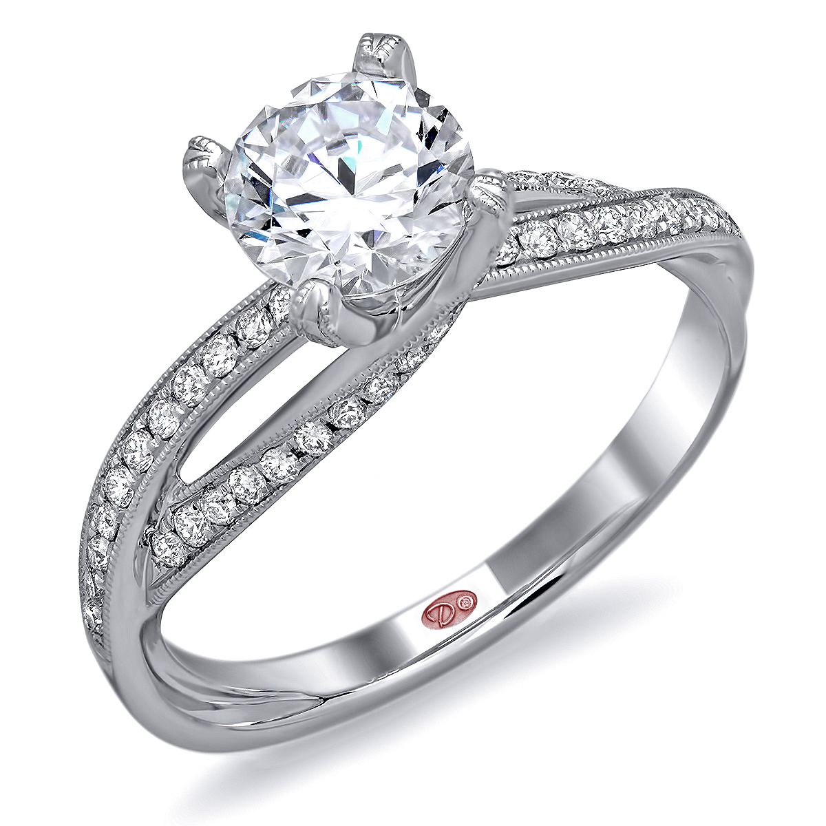 modern white gold engagement rings demarco bridal