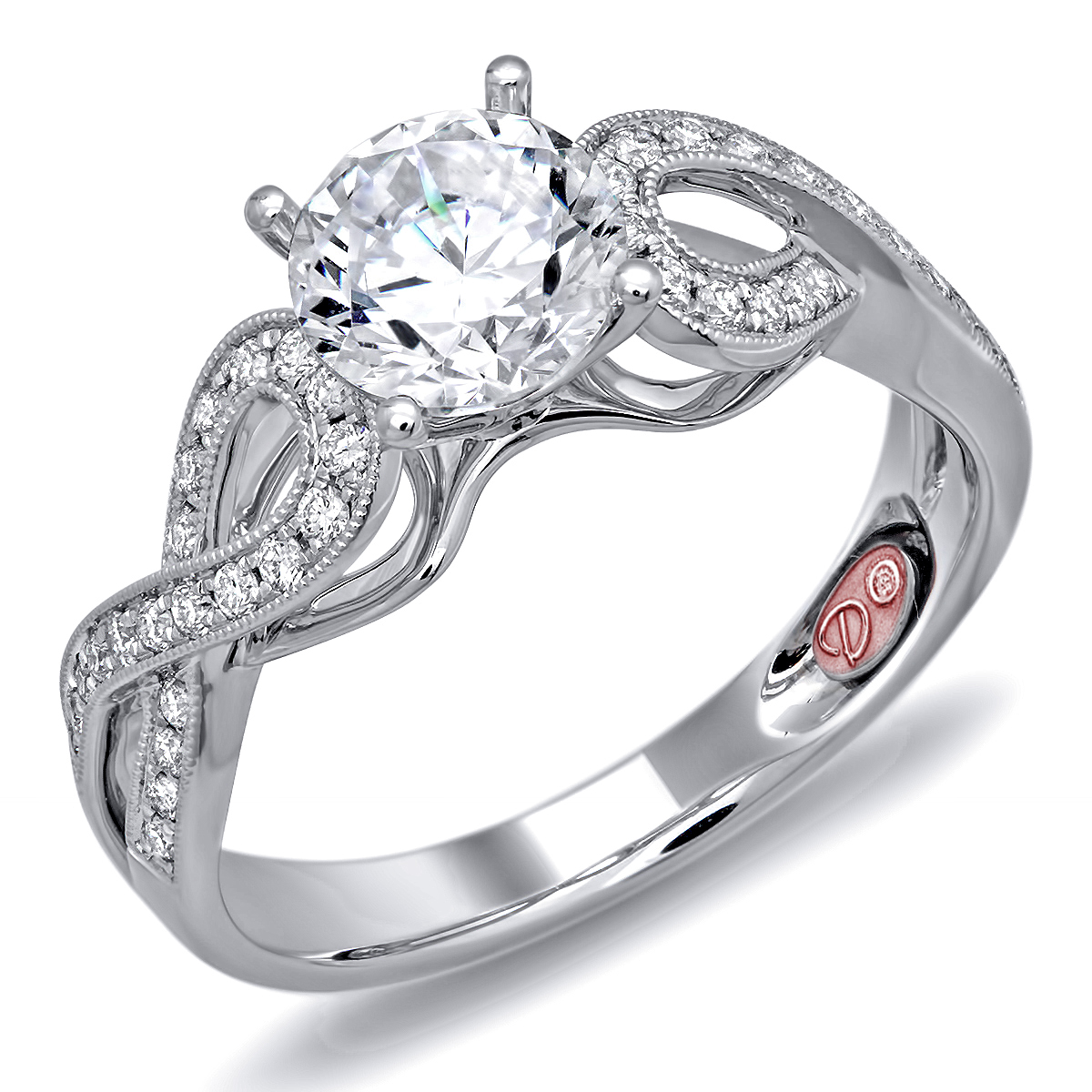 beautiful white gold engagement ring demarco