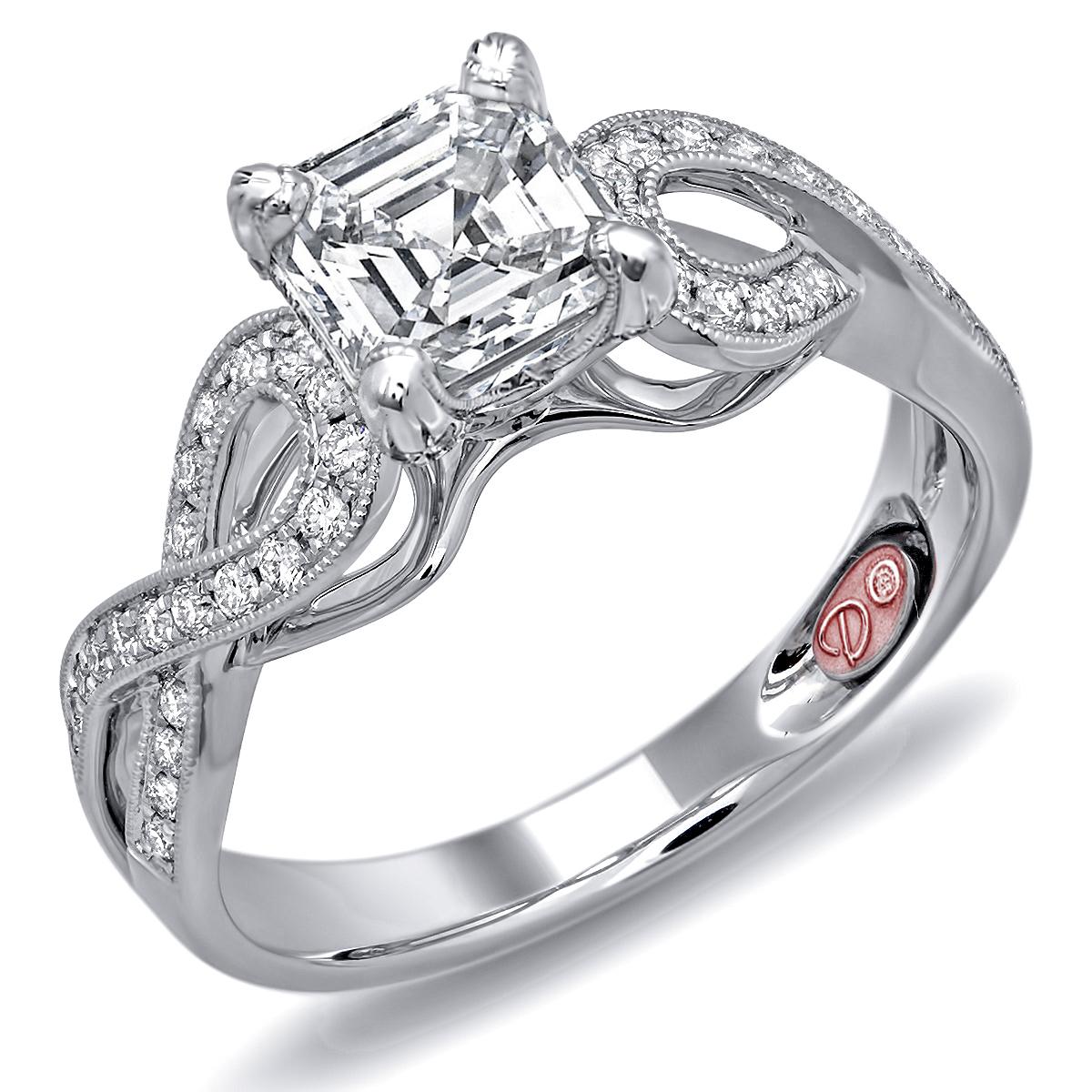 designer bridal rings - dw6080