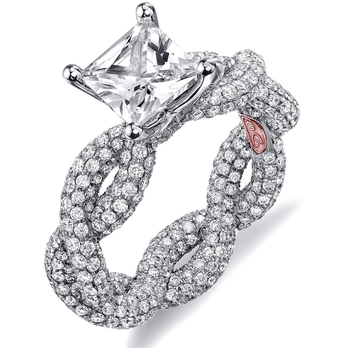 Twisted Princess Cut Engagement Rings | Demarco Bridal ...