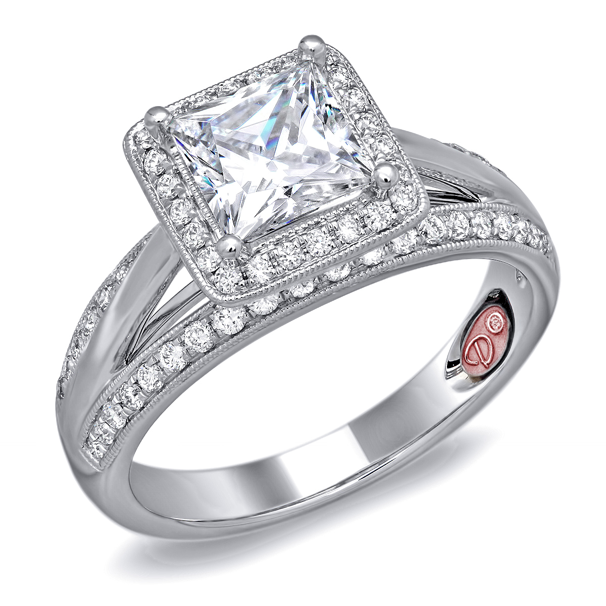 independent jewellers   princess cut engagement ring - dw6088