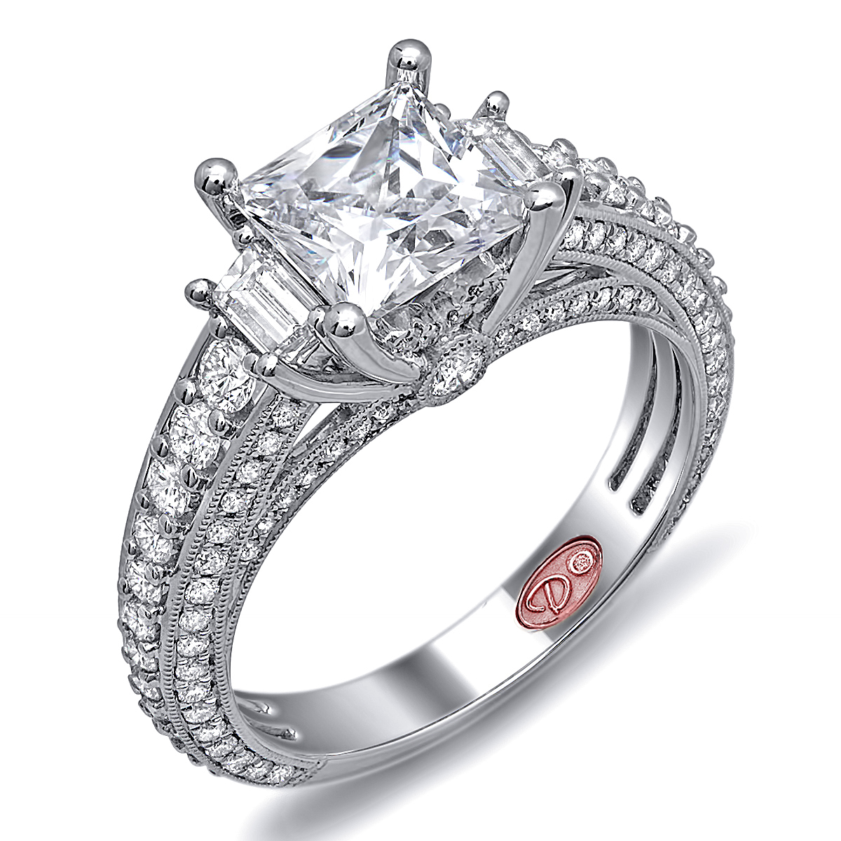 hannoush jewelers unique engagement rings dw6018 - Fancy Wedding Rings