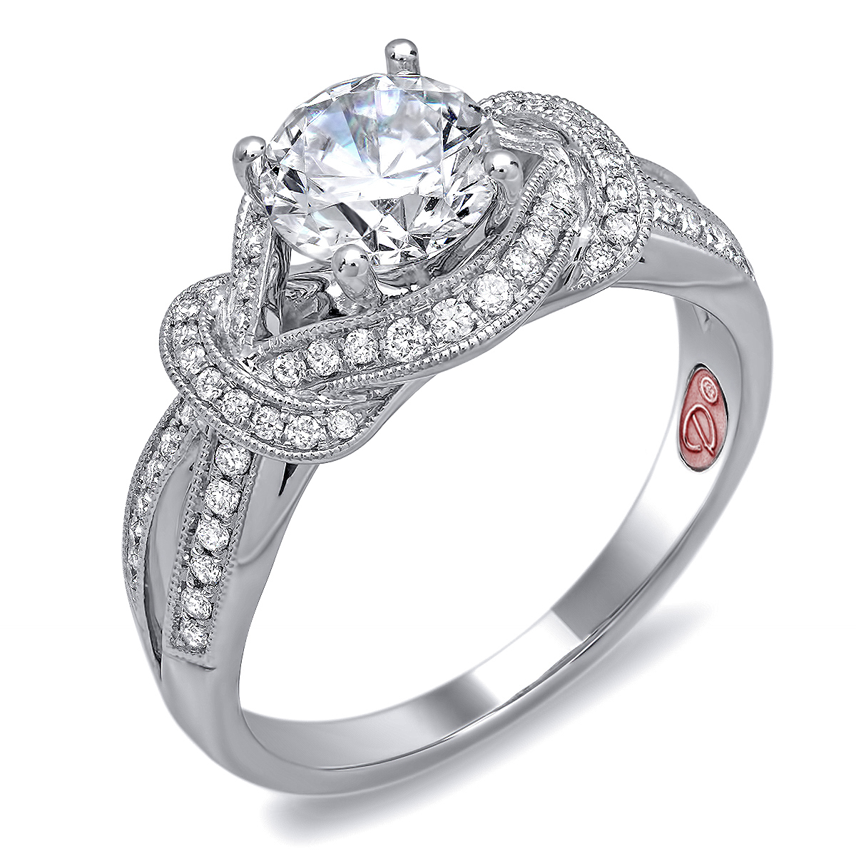 Knot Diamond Bridal Ring Demarco Bridal Jewelry Official Blog