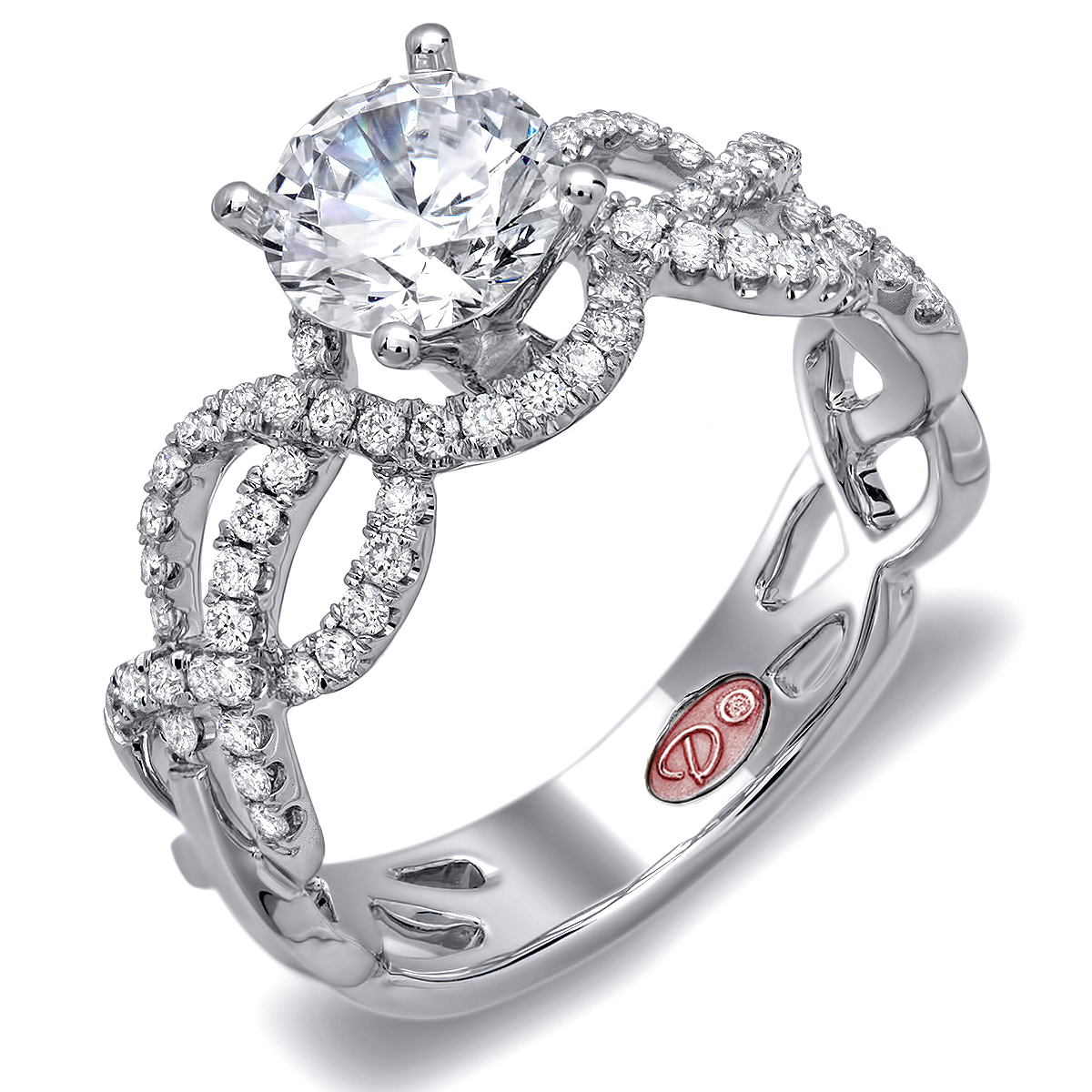 designer engagement rings dw6099