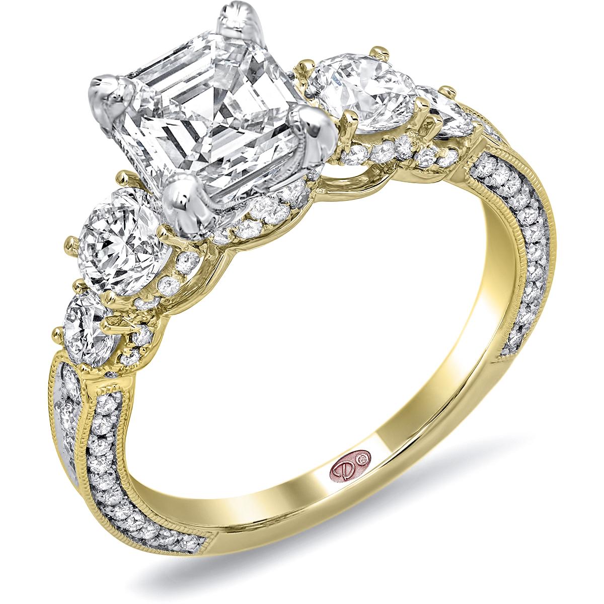Hidden Love Knot Engagement Ring
