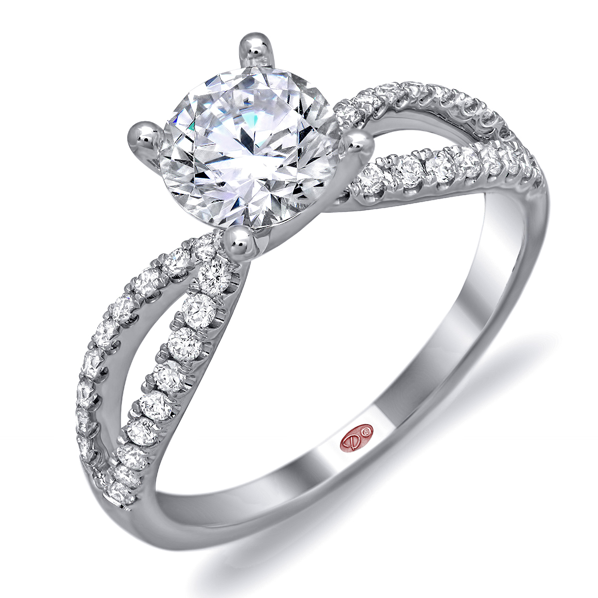 designer engagement rings dw6103