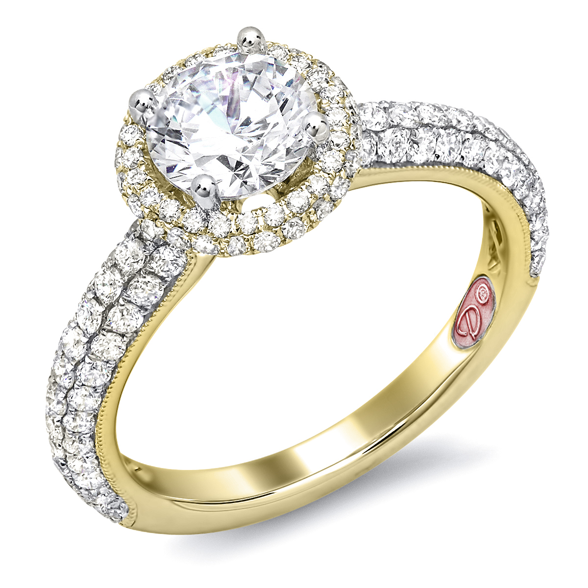 yellow gold halo engagement ring demarco bridal jewelry official