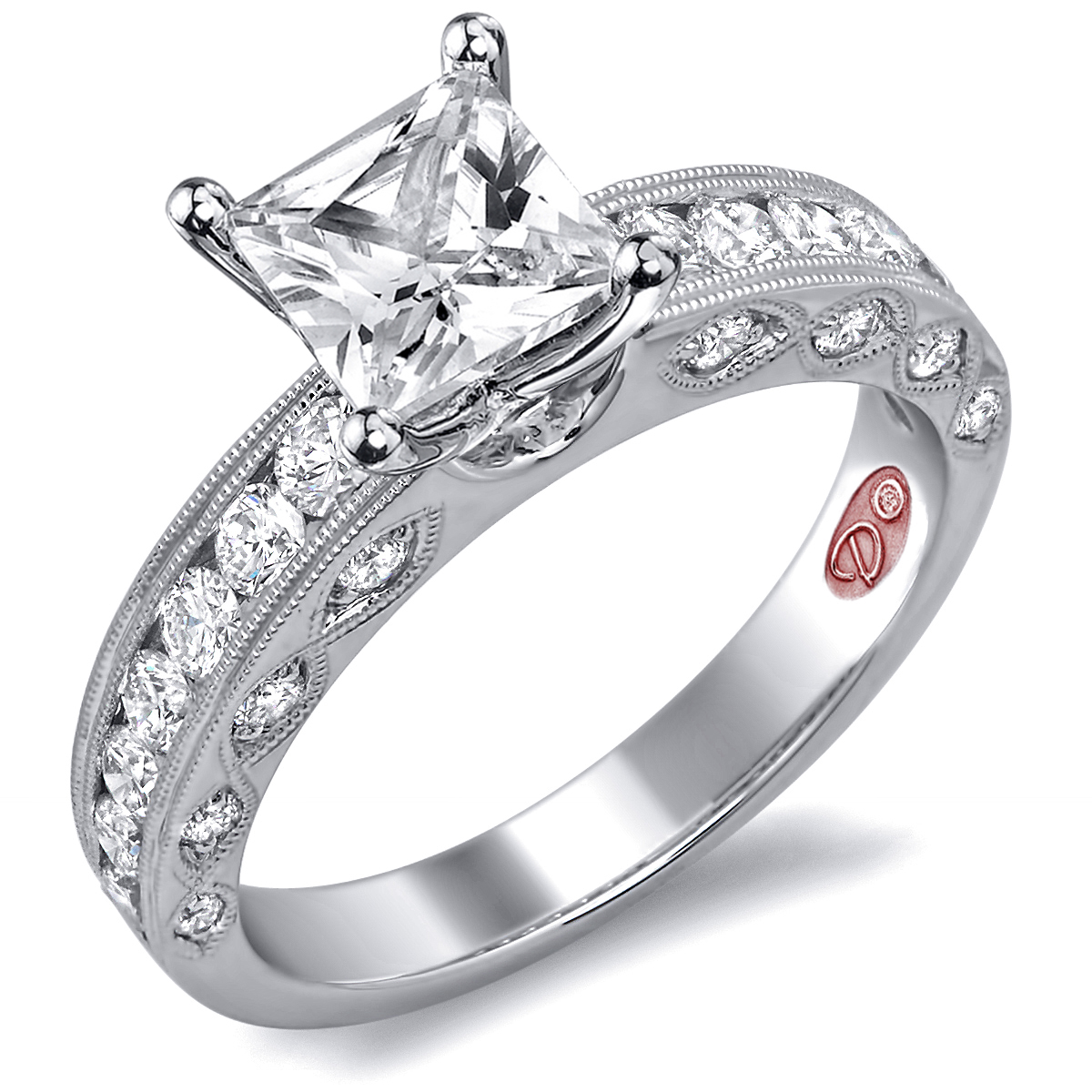 princess cut engagement rings demarco bridal jewelry