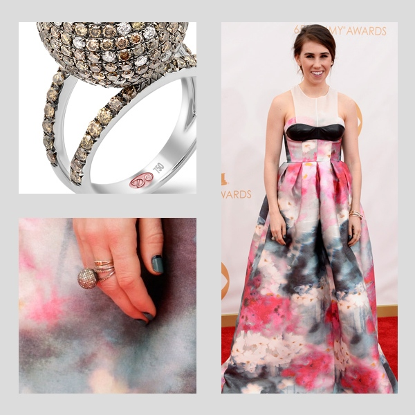 Zosia Mamet wearing Demarco Jewelry